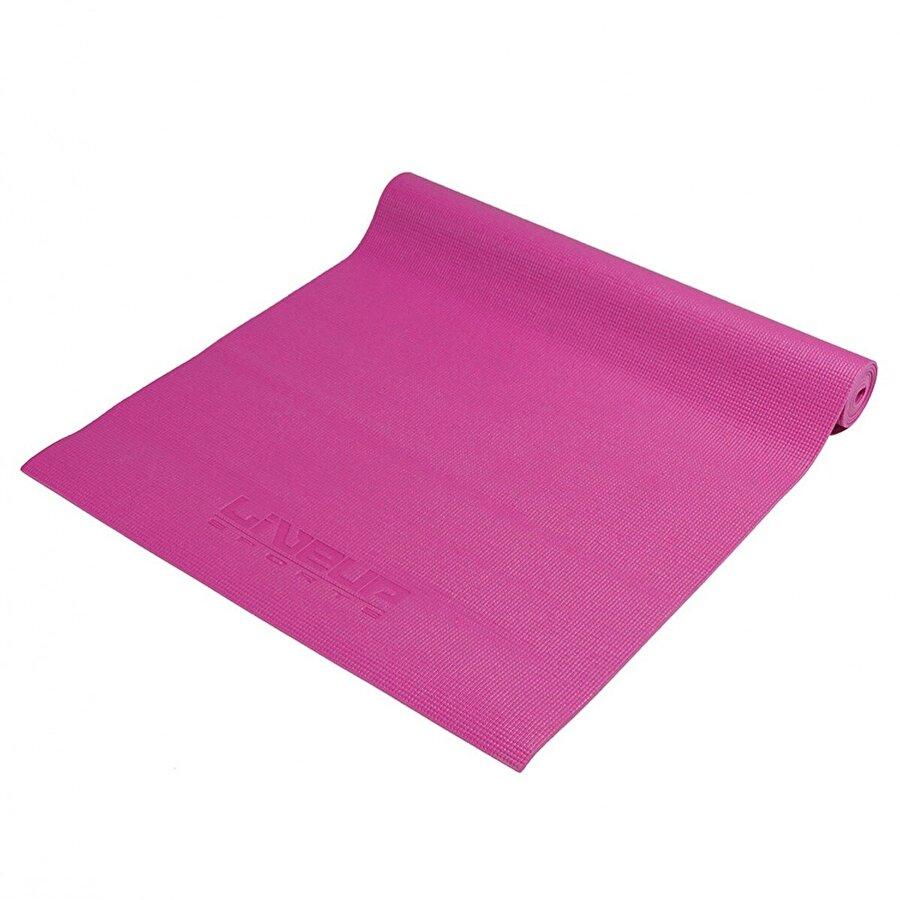 Liveup LS3231 4mm Yoga Mat Fuşya
