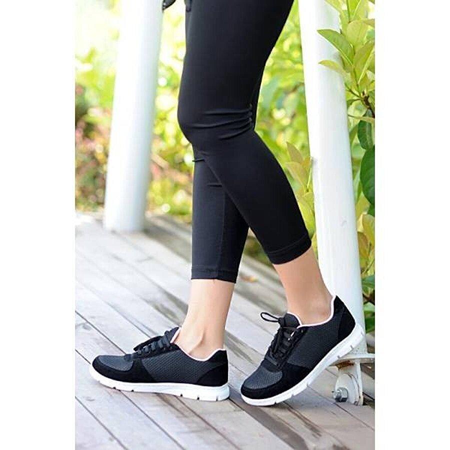 Pembe Potin A1971-20Siyah  Kadın Siyah Ayakkabı A1971-20