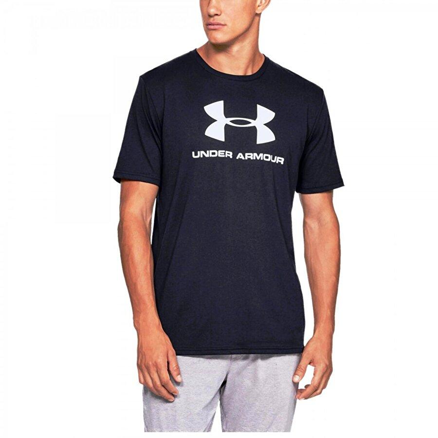 Under Armour 1329590 Sporstyle Logo  Siyah Erkek T-Shirt