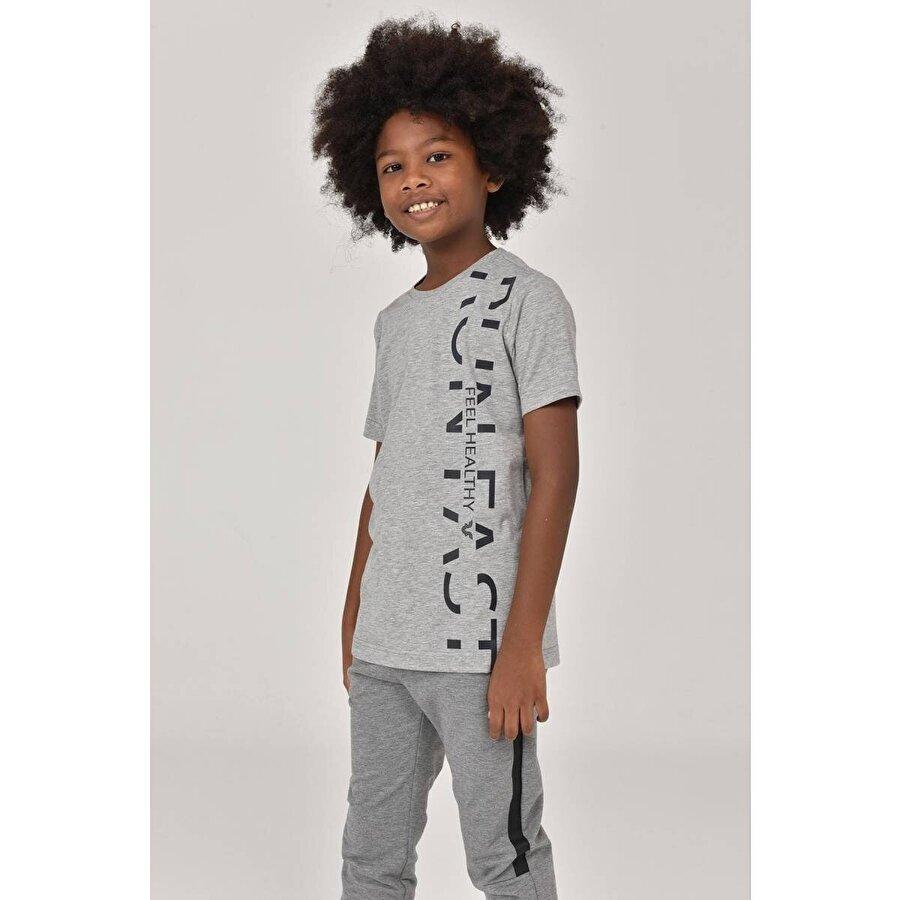 Bilcee Gri  Unisex Çocuk T-Shirt FW-1473