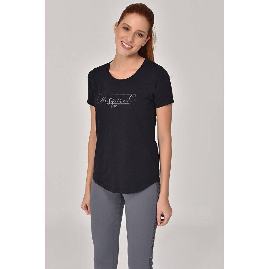 Bilcee Siyah Kadın T-Shirt GS-8615