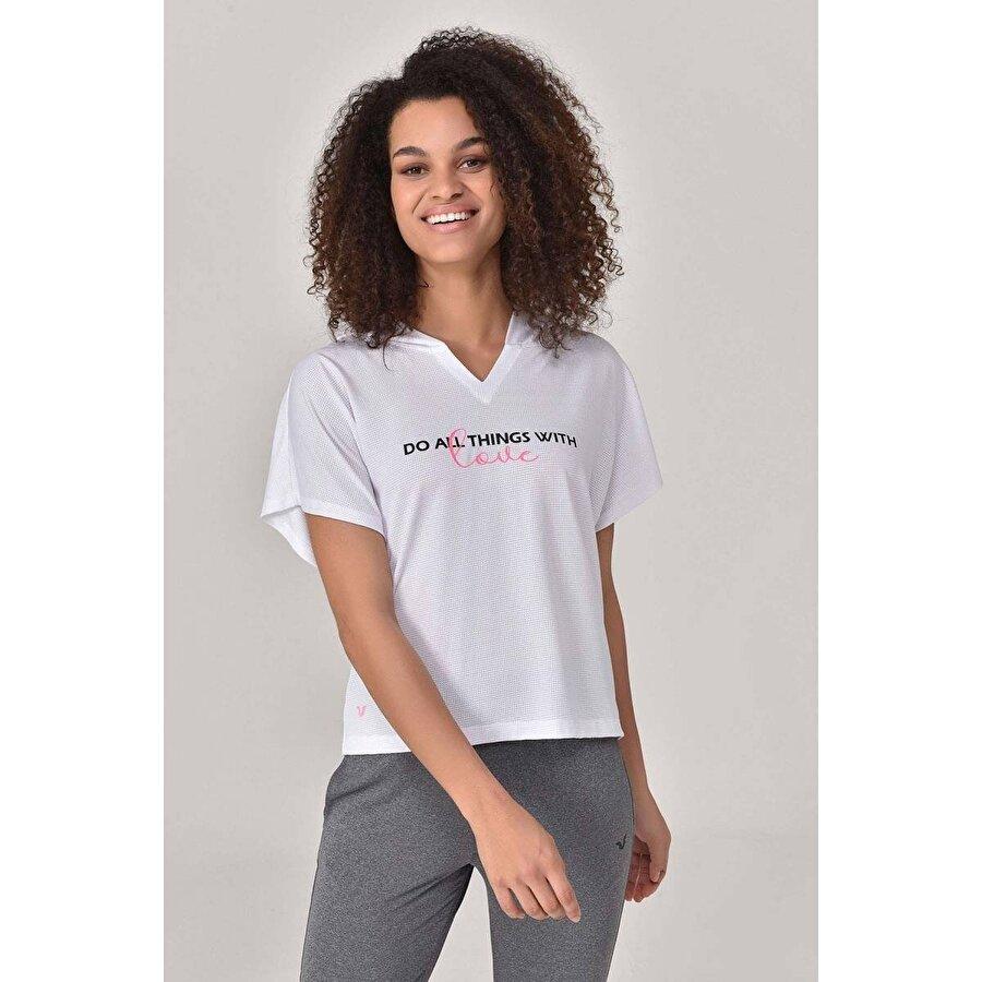Bilcee Beyaz Kadın T-Shirt GS-8607
