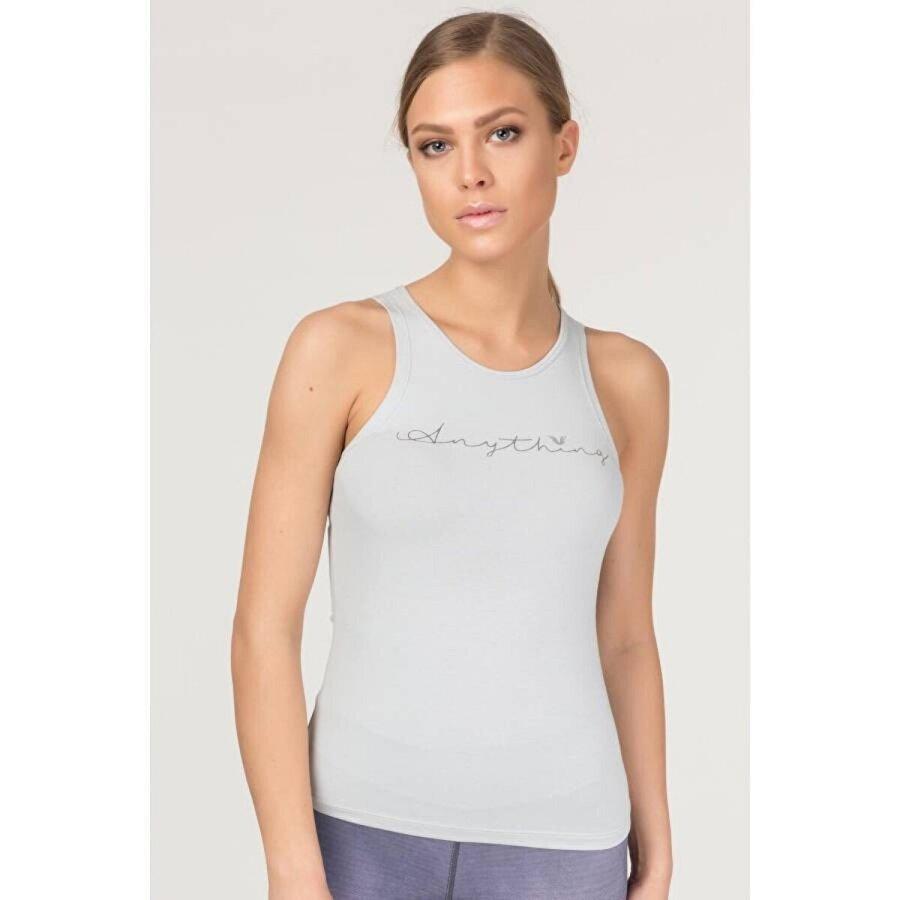 Bilcee Gri Pamuklu Yoga Kadın Atleti FS-4018