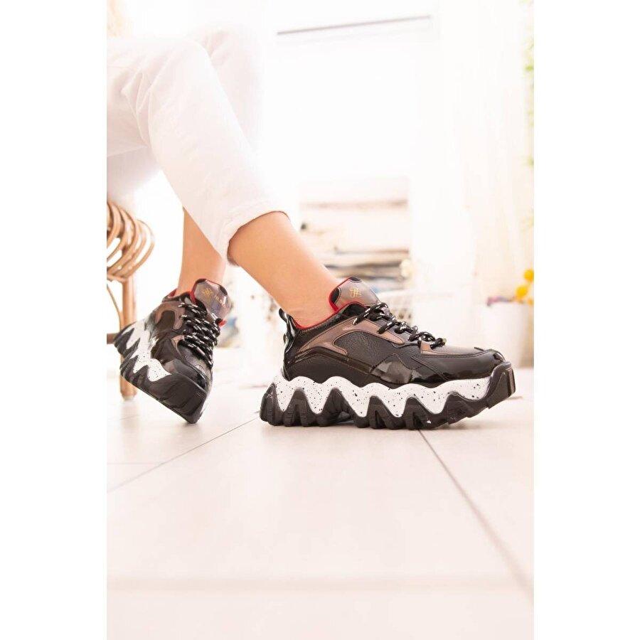 Limoya Stella Siyah Hologram Detaylı Sneakers
