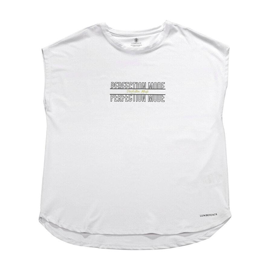 Lumberjack CT311 IONA MINIMAL T-SHIR Beyaz Kadın T-Shirt