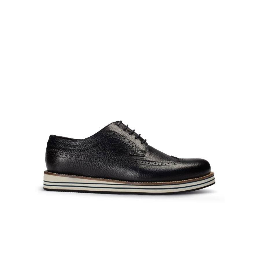 Deery Hakiki Deri Koyu Lacivert Günlük Erkek Ayakkabı