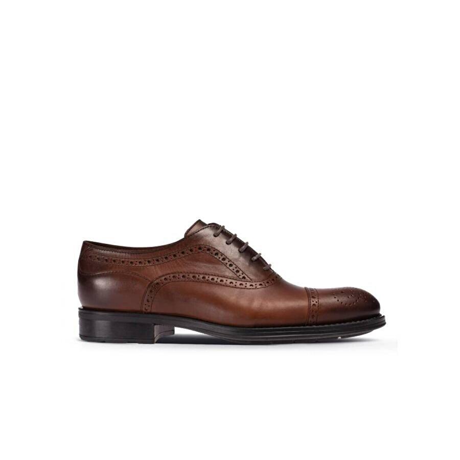 Deery Hakiki Deri Kahverengi Klasik Erkek Ayakkabı