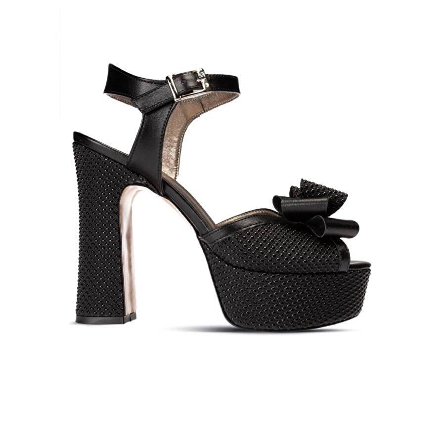 Deery Siyah Topuklu Abiye Kadın Ayakkabı