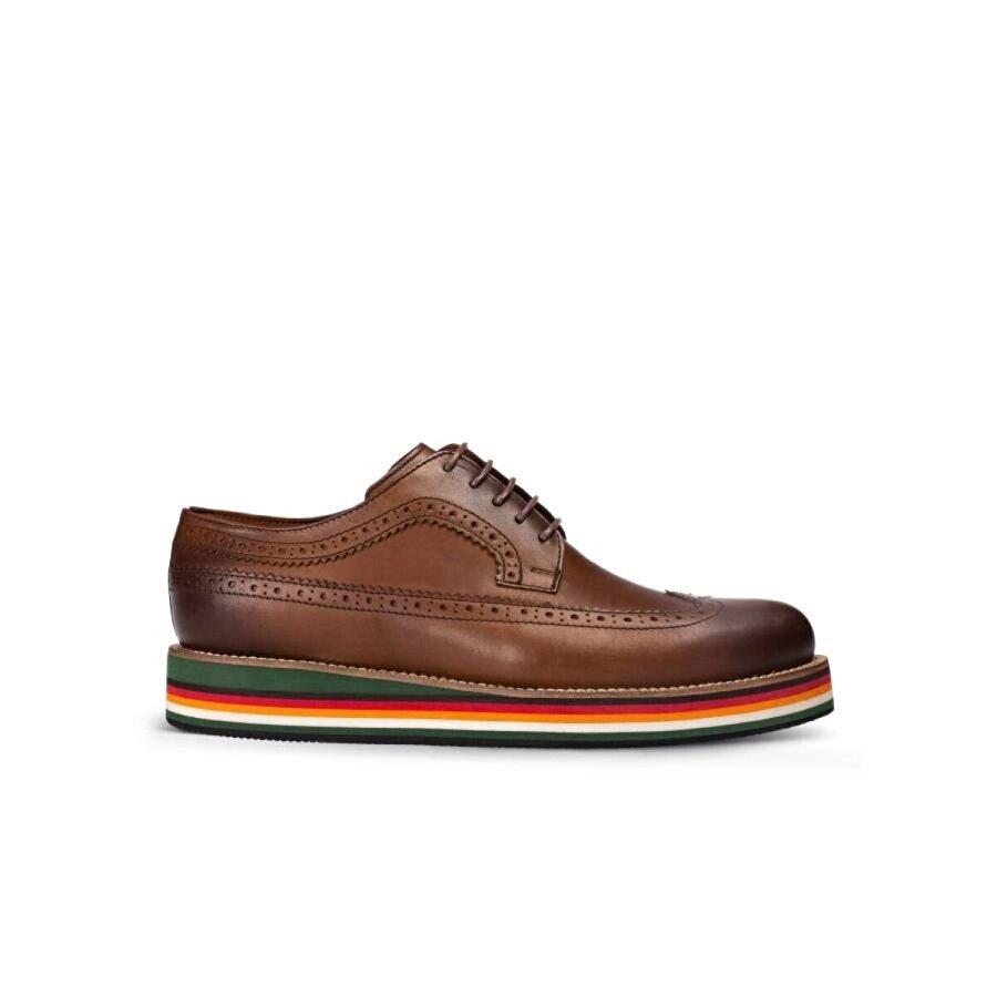 Deery Hakiki Deri Taba Rengi Günlük Erkek Ayakkabı