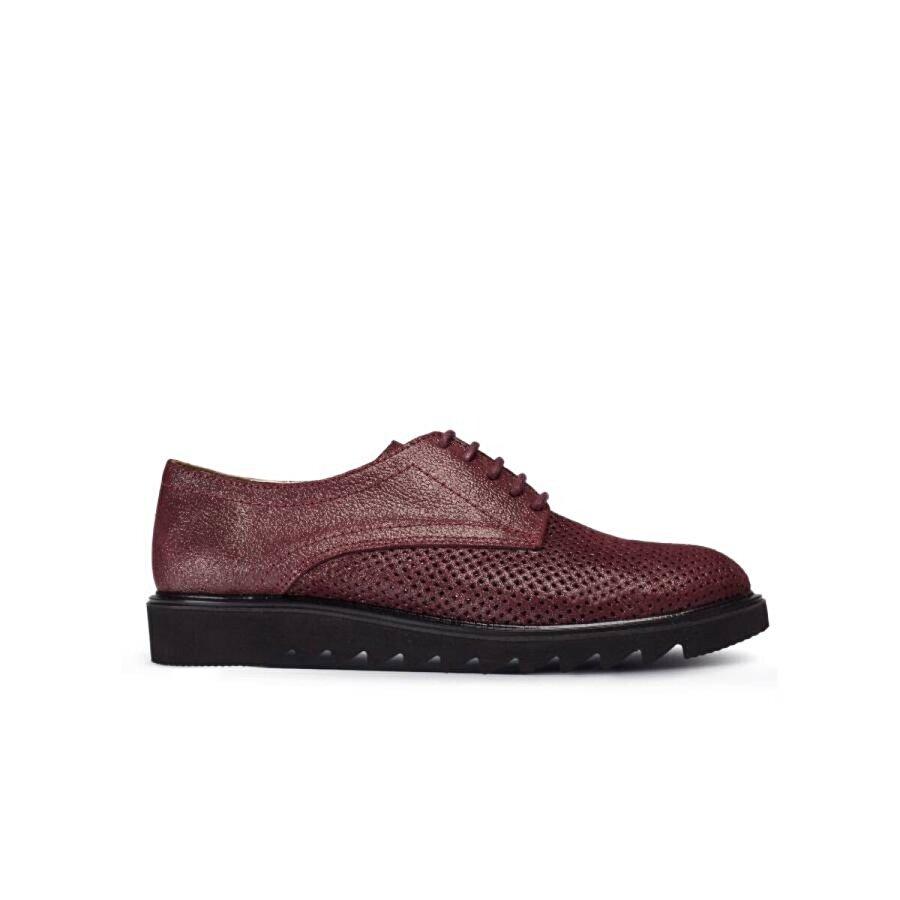 Deery Hakiki Süet Bordo Günlük Kadın Ayakkabı