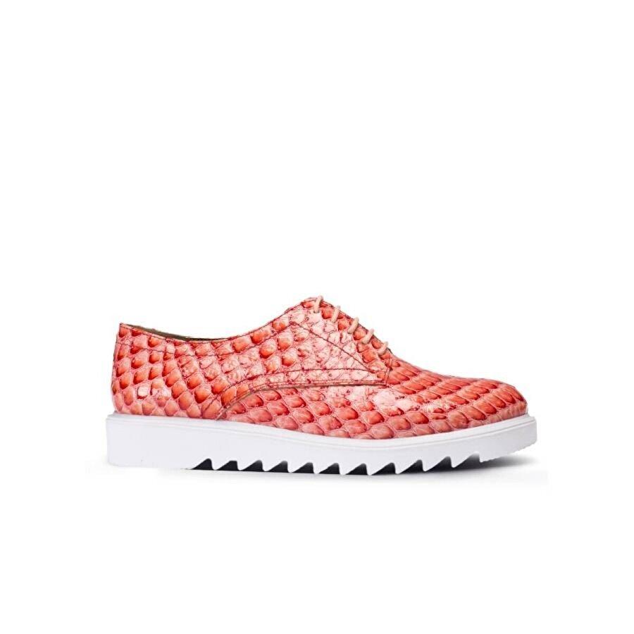 Deery Hakiki Deri Pembe Günlük Kadın Ayakkabı