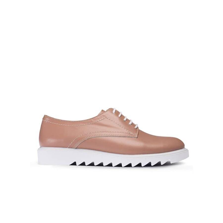 Deery Hakiki Deri Vizon Rengi Günlük Kadın Ayakkabı