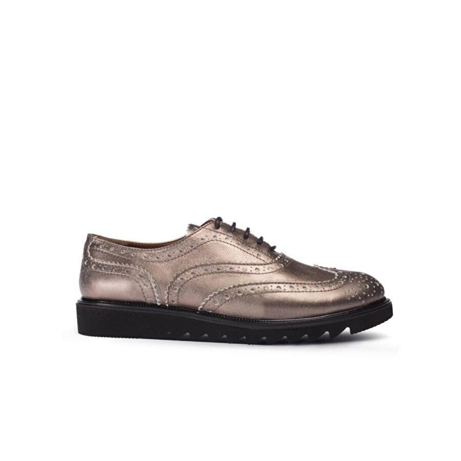 Deery Hakiki Rugan Altın Rengi Günlük Kadın Ayakkabı
