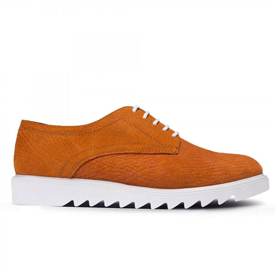 Deery Hakiki Parlak Süet Turuncu Günlük Kadın Ayakkabı