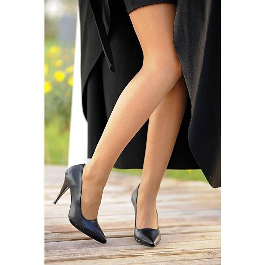 Pembe Potin A5454-19  Kadın Topuklu Ayakkabı A5454-19