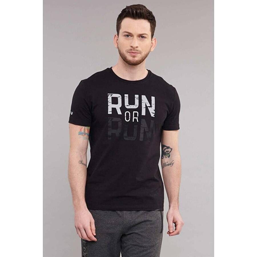 Bilcee Siyah Erkek T-Shirt ES-1362
