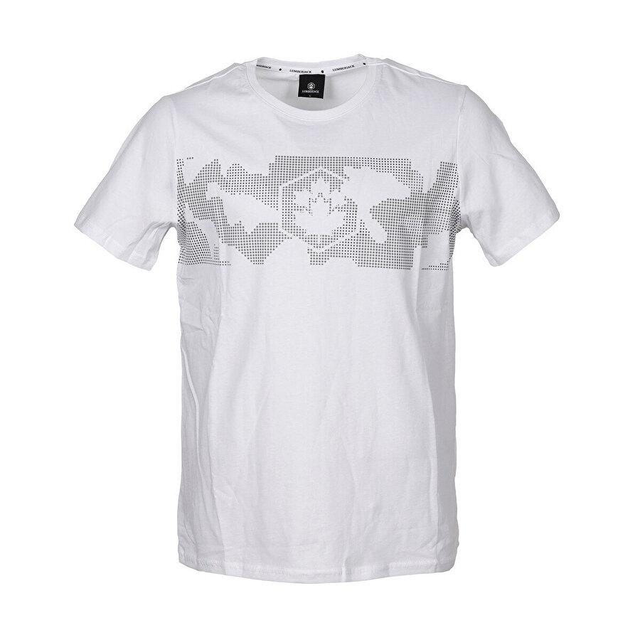 Lumberjack CT379 ARMY LOGO T-SHIRT Beyaz Erkek T-Shirt