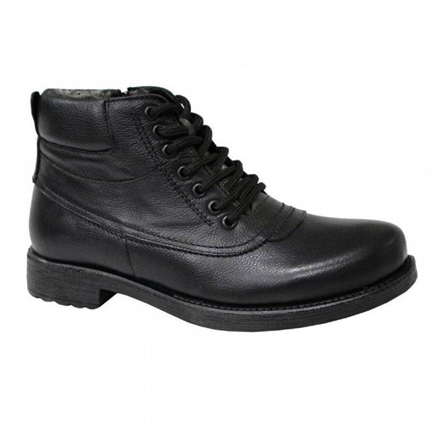 Mehmet Mete 6802 Siyah Hakiki Deri Erkek Ayakkabı Bot