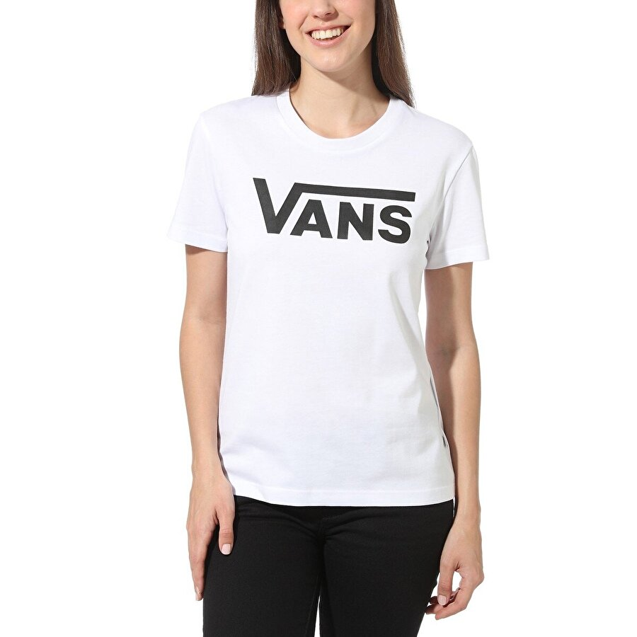 Vans FLYING V CREW TEE Beyaz Kadın T-Shirt