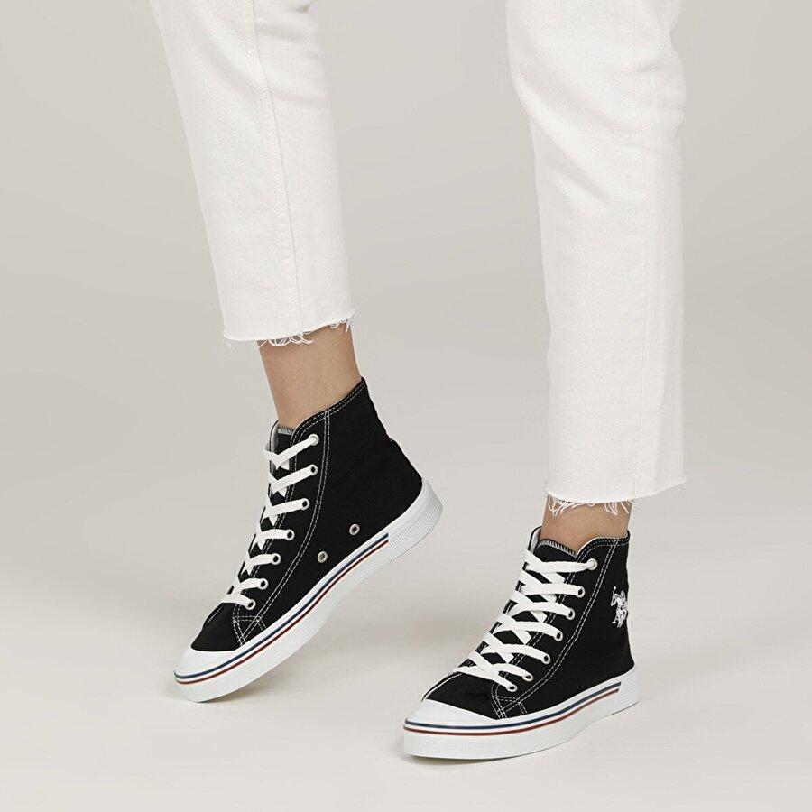 U.S. Polo Assn. PENELOPE HIGH 1FX Siyah Kadın Havuz Taban Sneaker