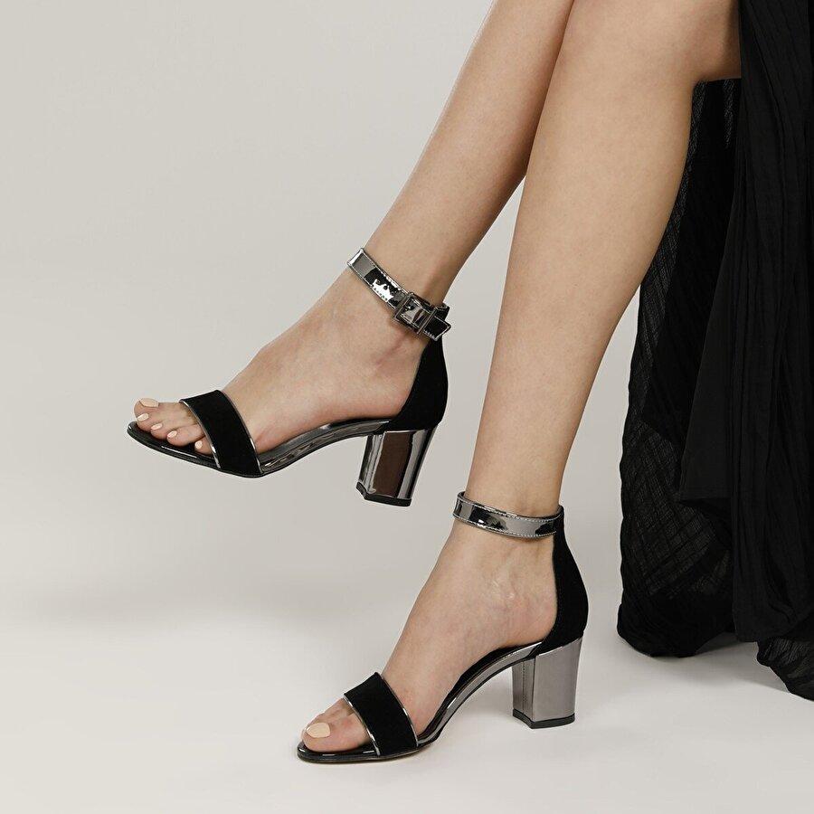 Butigo 19S-0891FX Siyah Kadın Topuklu Ayakkabı