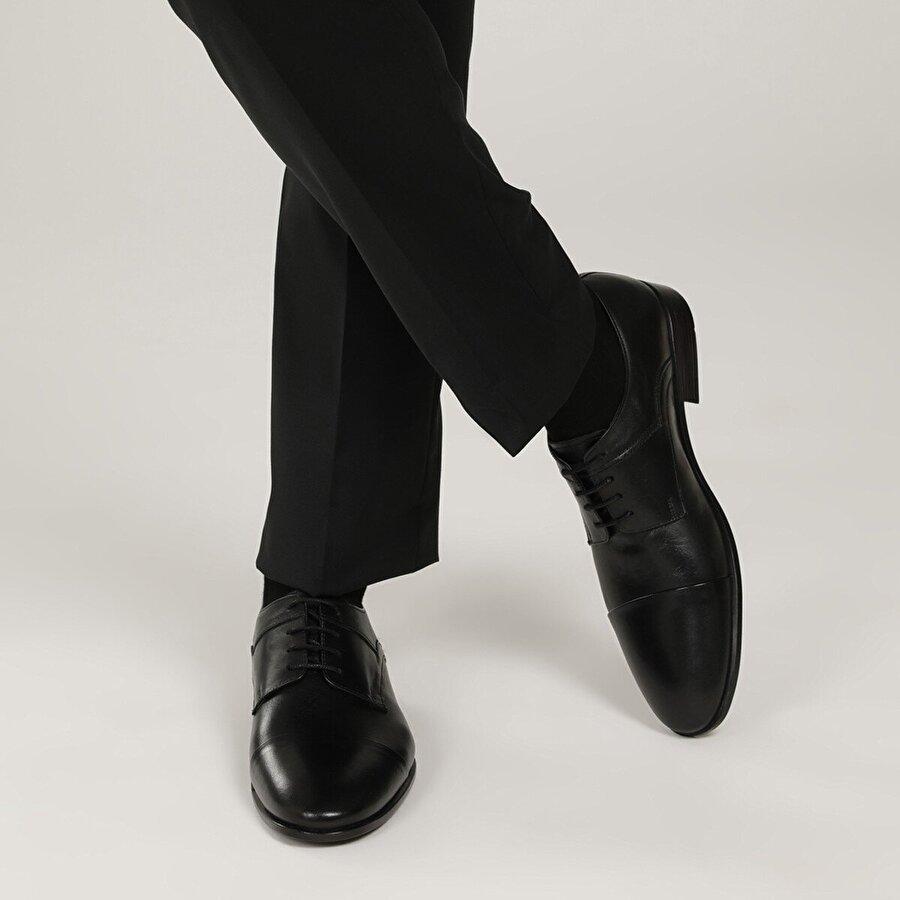 Garamond 2386-3 1 FX Siyah Erkek Klasik Ayakkabı