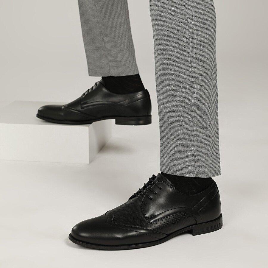 Down Town G-218-2 1FX Siyah Erkek Klasik Ayakkabı