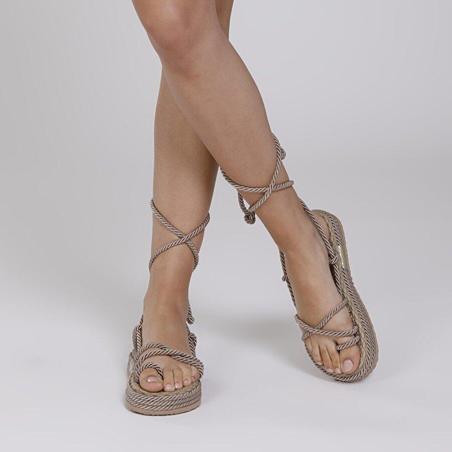 Butigo NAVİ 1FX Vizon Kadın Sandalet