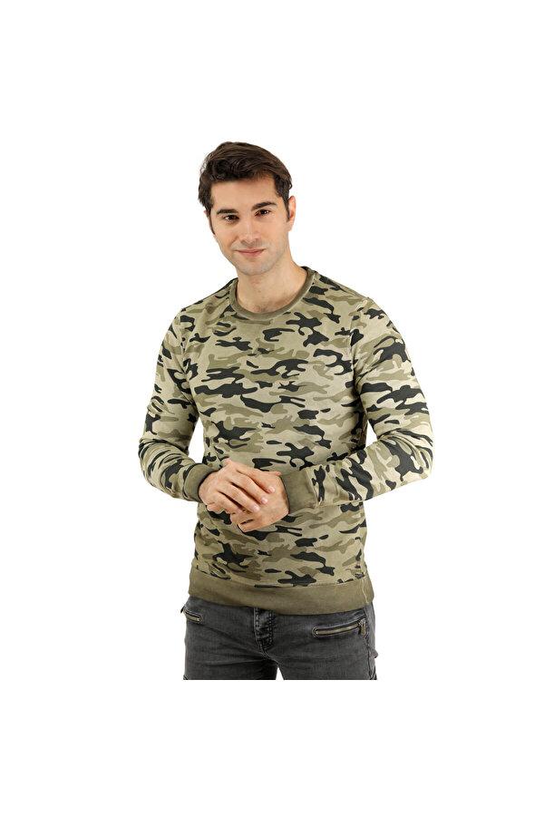 Phazz Brand 85423 Yeşil Erkek Sweatshirt