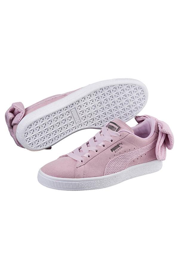 Puma SUEDE BOW UPRISING WN S Lila Kadın Sneaker