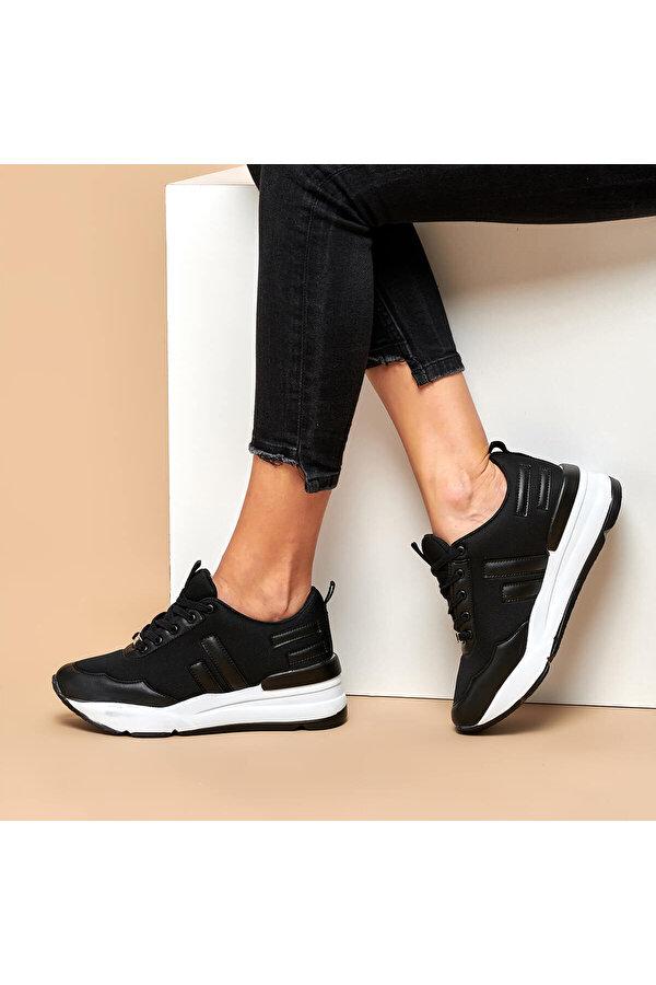 Butigo Z003-19K Siyah Kadın Sneaker