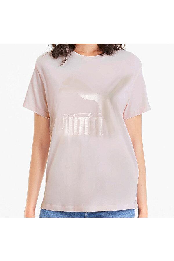 Puma CLASSICS LOGO TEE Mavi Kadın T-Shirt