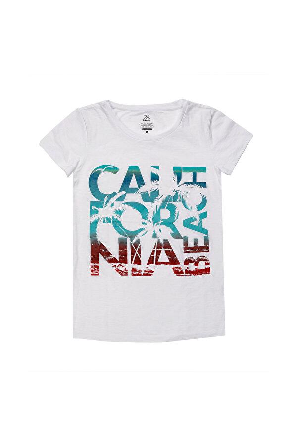 Kinetix JANE-2 T-SHIRT Beyaz Kadın Kısa Kol T-Shirt