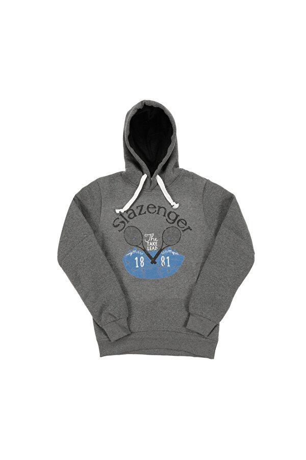 Slazenger ST28WE028-230 Füme Erkek Sweatshirt