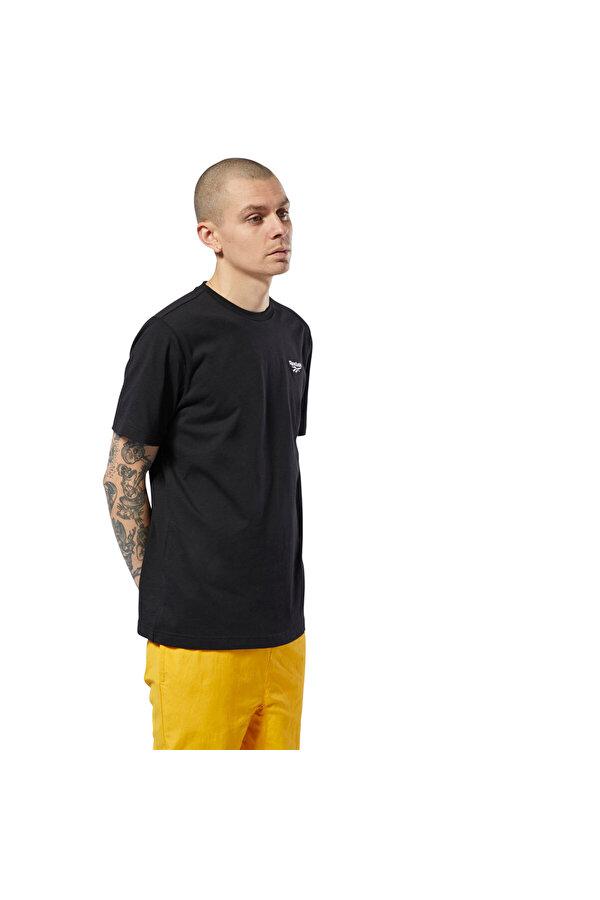 Reebok SMALL VECTOR TEE Siyah Erkek T-Shirt