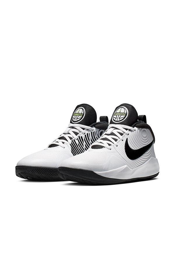 Nike TEAM HUSTLE D 9 (GS) Beyaz Erkek Çocuk Basketbol Ayakkabısı