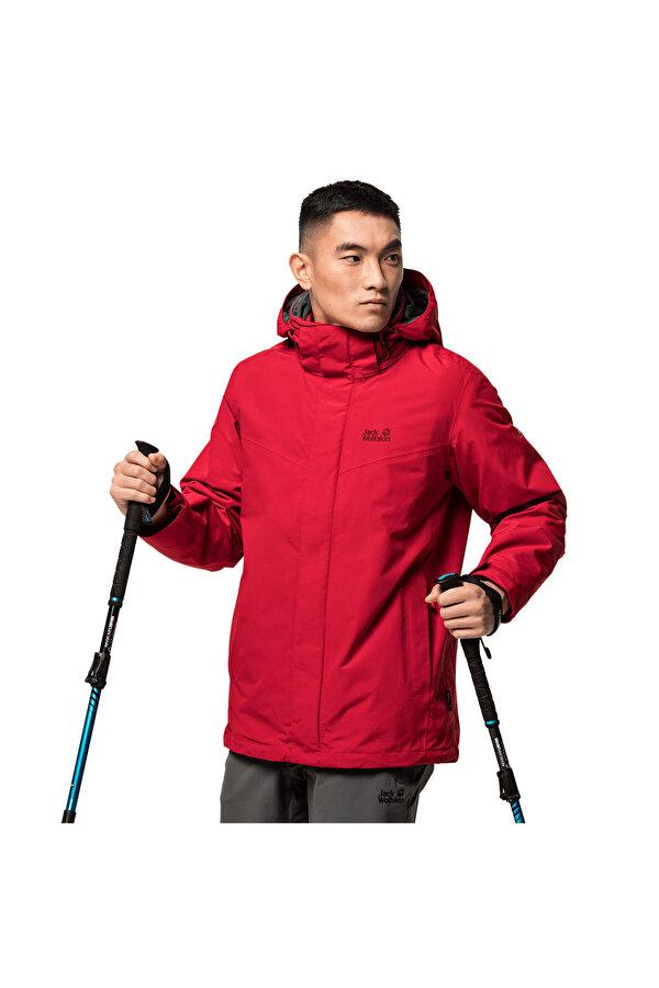 Jack Wolfskin GOTLAND 3IN1 M Kırmızı Erkek Ceket