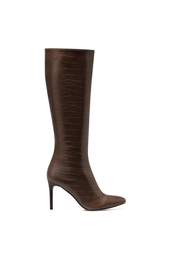Nine West KAREN-CR Kahverengi Kadın Topuklu Çizme
