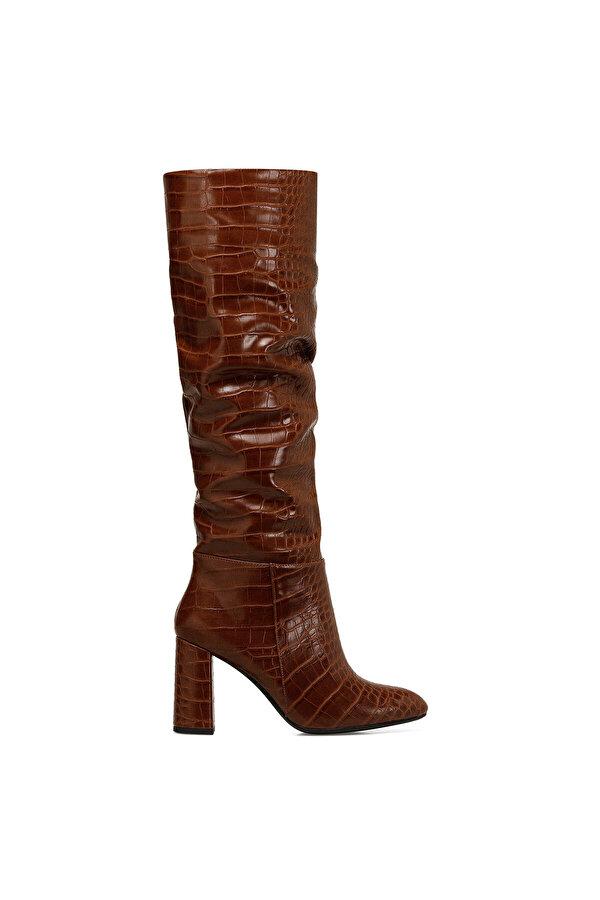 Nine West STELIO Taba Kadın Topuklu Çizme
