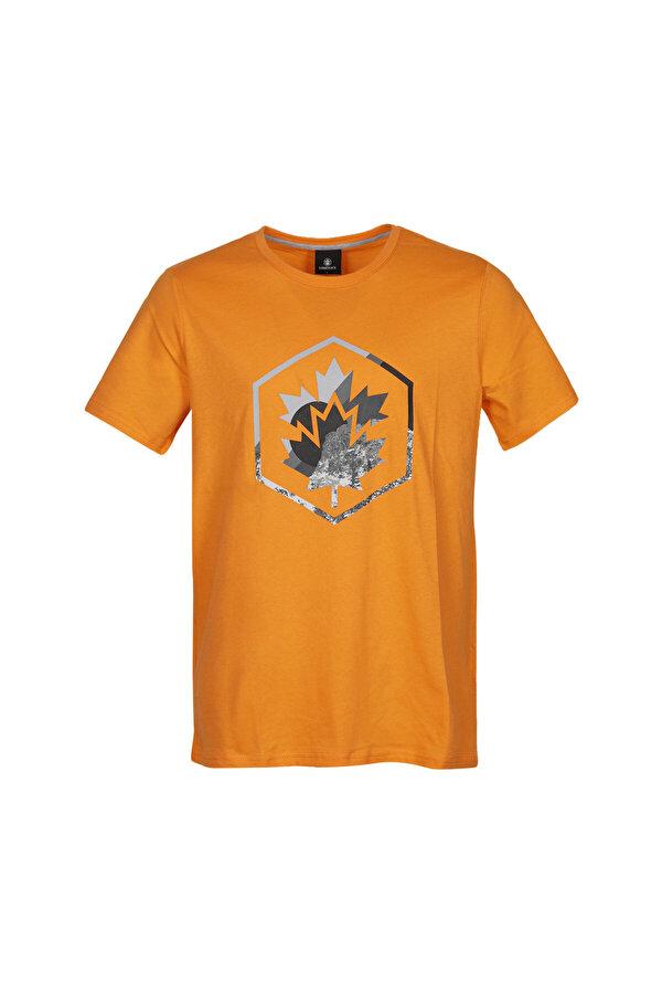 Lumberjack CT636 COLORED LOGO T-SHIR Turuncu Erkek Kısa Kol T-Shirt