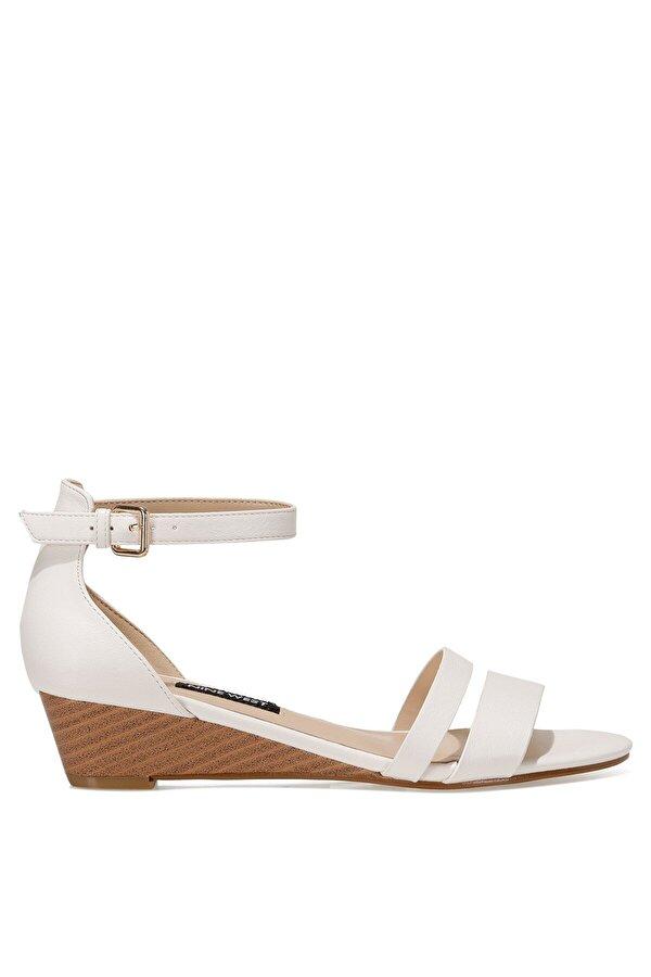 Nine West BRALLAN 1FX Beyaz Kadın Düz Sandalet