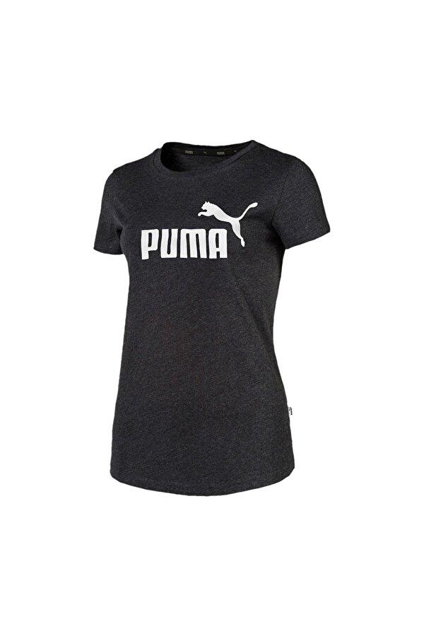 Puma ESS LOGO TEE Gri Kadın Kısa Kol T-Shirt