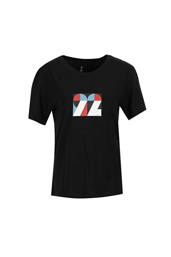 Skechers GRAPHIC TEE W CREW NECK T Siyah Kadın Kısa Kol T-Shirt