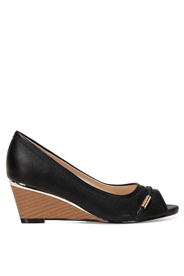 Nine West BIRENNA 1FX Siyah Kadın Dolgu Topuk Ayakkabı