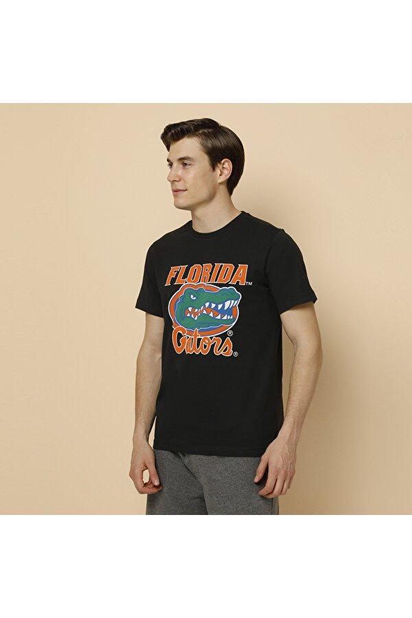 Lumberjack SN687 FLORIDA GATORS T-SH Siyah Erkek Kısa Kol T-Shirt