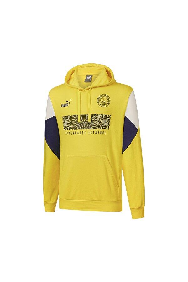 Puma FENERBAHÇE FTBLCULTURE Sarı Erkek Sweatshirt