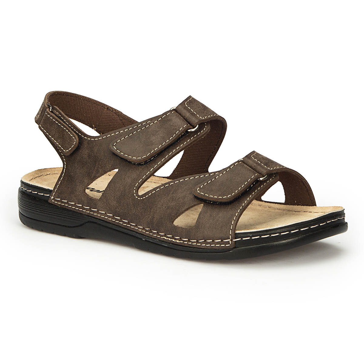 Kahverengi Erkek Sandalet
