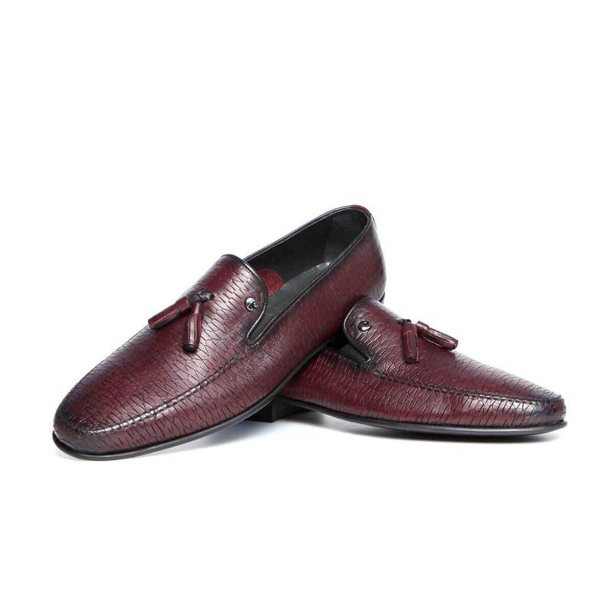 BORDO Erkek Loafer Ayakkabı C9605A-1