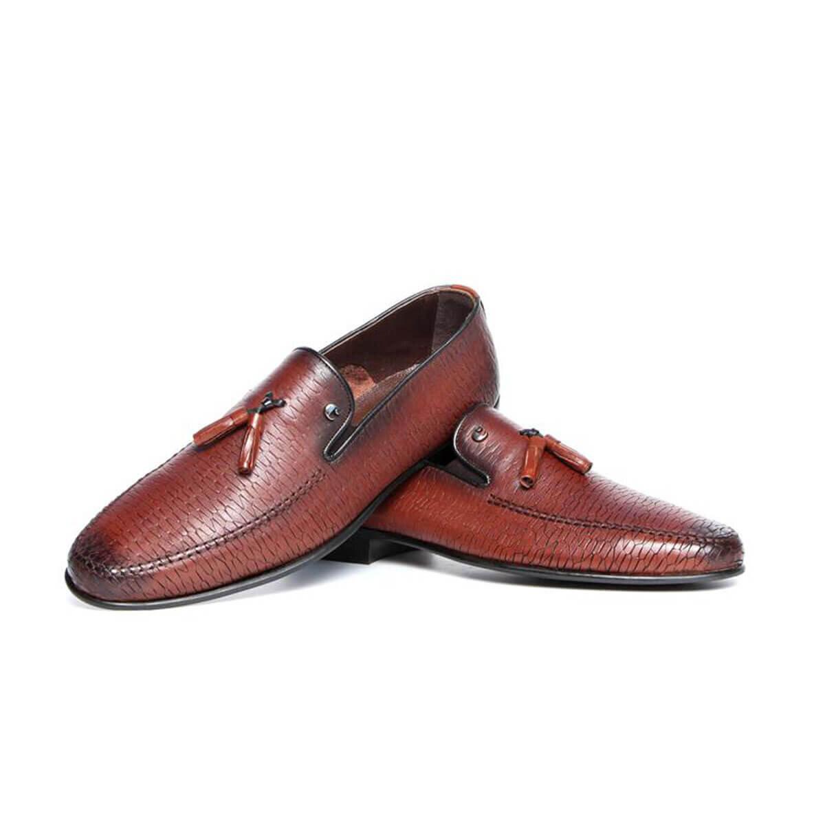 Kahverengi Erkek Loafer Ayakkabı C9605A-2