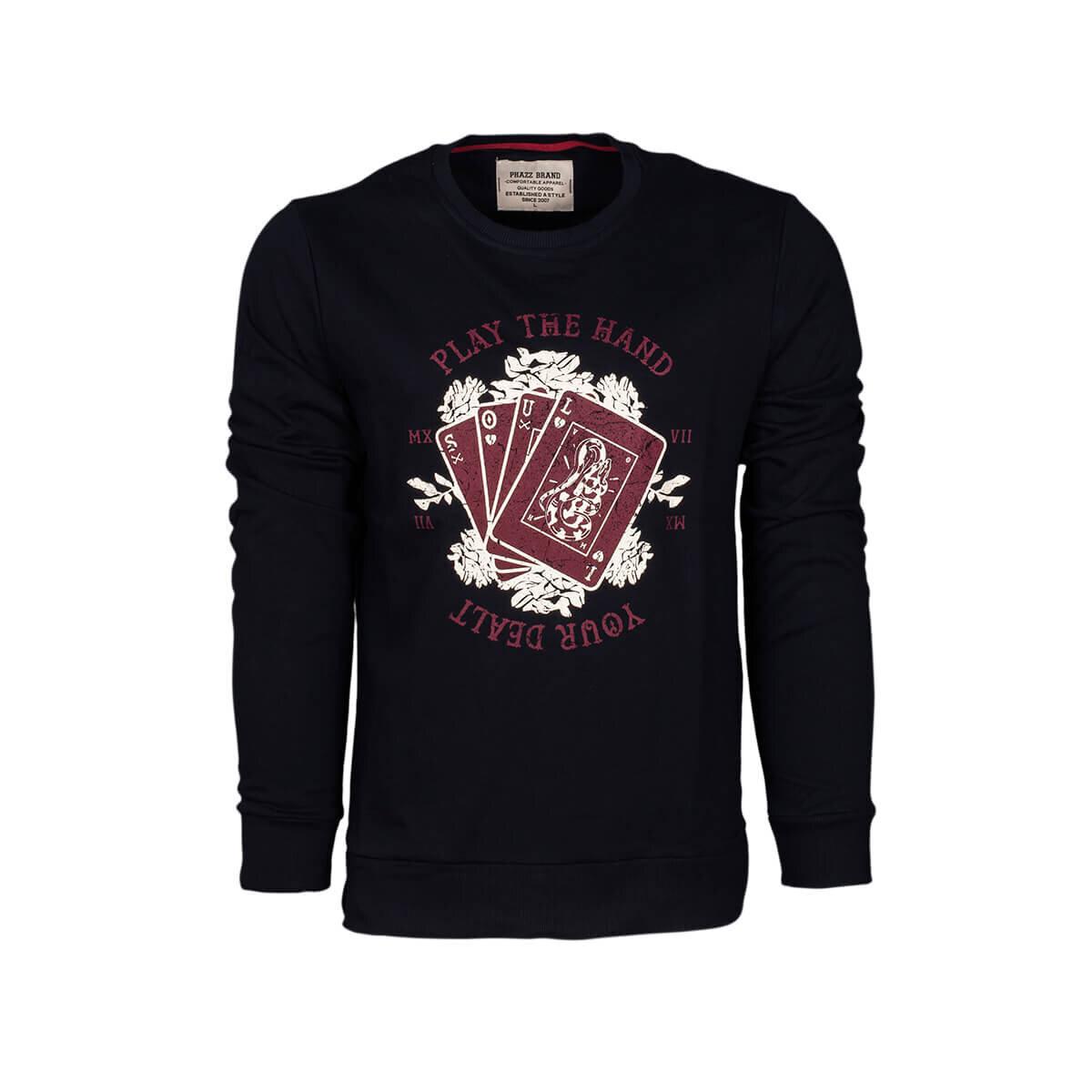 Lacivert Erkek Sweatshirt 85105